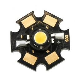 LED 5W teplá biela s chladičom